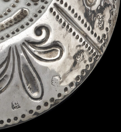 A Charles I silver Saucer Dish with scrolled handles