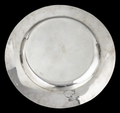 An early English silver Plate from the reign of James I back